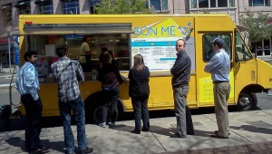 BonMe Food Truck chillin' outside the Prudential center
